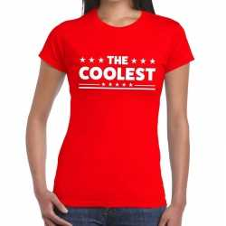 Toppers the coolest tekst t shirt rood dames