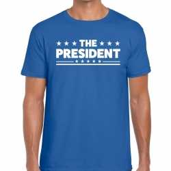 Toppers the president heren t shirt blauw