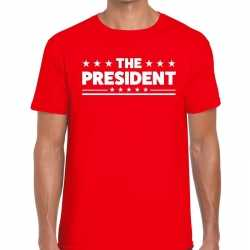Toppers the president heren t shirt rood