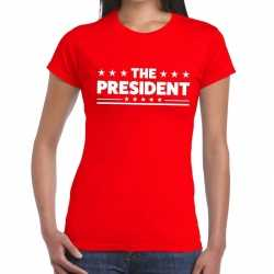 Toppers the president tekst t shirt rood dames
