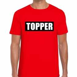 Toppers topper in kader t shirt rood heren