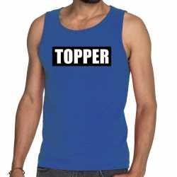 Toppers topper in kader tanktop / mouwloos shirt blauw heren