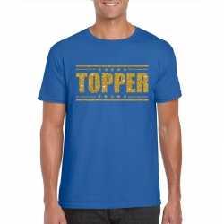 Toppers topper t shirt blauw gouden glitters heren