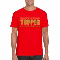 Toppers topper t shirt rood gouden glitters heren