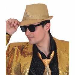 Toppers Trilby hoed gouden pailletten