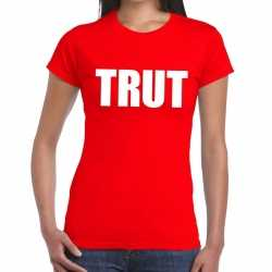 Toppers trut tekst t shirt rood dames