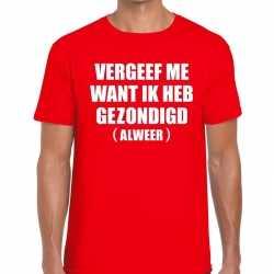 Toppers vergeef me heren t shirt rood