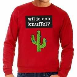 Toppers wil je een knuffel tekst sweater rood