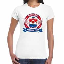 Toppers wit toppers drinking team t shirt dames