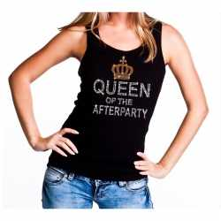 Toppers zwart toppers queen of the afterparty glitter tanktop dames