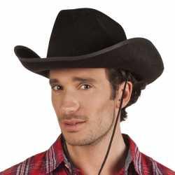 Toppers zwarte cowboyhoed rodeo vilt volwassenen